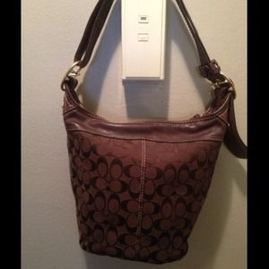 AUTHENTIC!!!!! Chocolate Coach Shoulder Bag