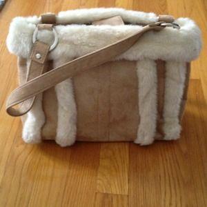 Handbags - Reduced: Tan faux suede purse
