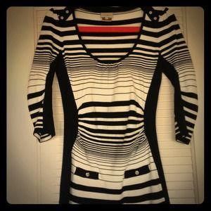 ⚡️sale⚡️Karen Millen blk/w stripe sweater dress