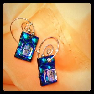 Jewelry - Handmade Blue Earrings