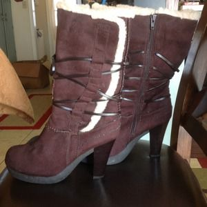 Brown suede boots  REDUCED