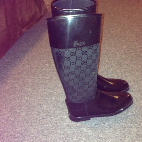 64687fc6 Gucci Shoes | Sold Womens Flat Rain Boots | Poshmark
