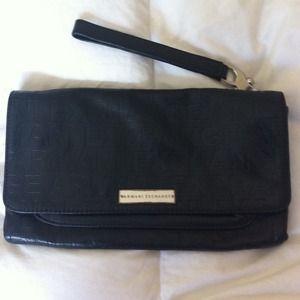 Armani Exchange clutch wristlet purse