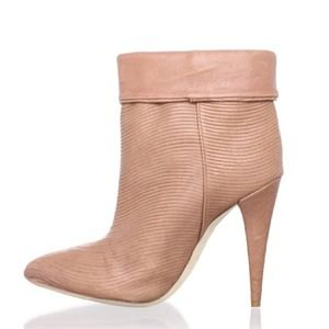 Loeffler Randall Boots - Loeffler Randall Emory Wave Ankle Boot Dusty Rose