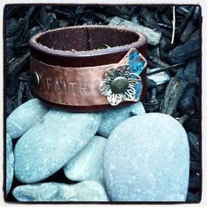 Jewelry - Leather Metal Cuff