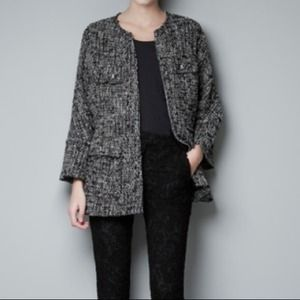 Zara Jackets & Blazers - Zara Military Tweed Coat