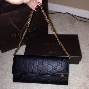 *Not For Sale* Gucci Chain Leather Wallet