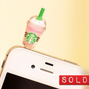 Starbucks Strawberry Frap Earphone Plug Charm