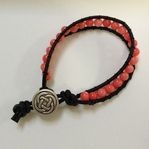 single leather wrap bracelet