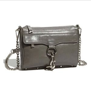Rebecca Minkoff mini MAC in charcoal grey