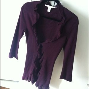 3/4 sleeve knit cardigan