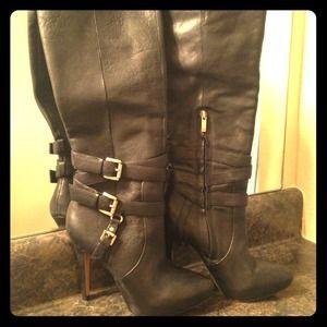 Sam Edleman Black Roula Double-Buckle Boots - 7.5