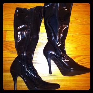 New Chinese laundry Patent leather boots