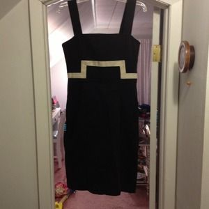 Black dress with Beige design