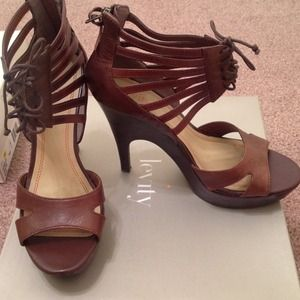 levity Shoes - Levity Brown leather dress sandals