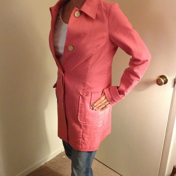 73% off Old Navy Outerwear - Old navy pink coral trench coat from ...