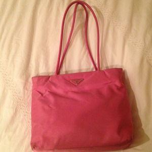 Pink Prada shoulder bag on Poshmark