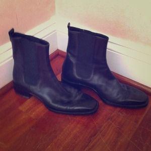 Black Ralph Lauren Ankle Riding Boot