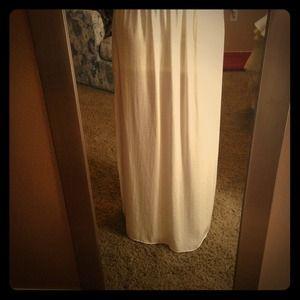 Ivory Slit Skirt