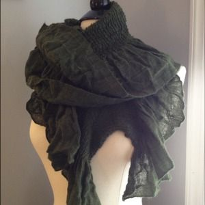 Accessories - SOLD. Deep Green Scarf
