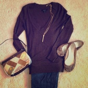 Express Sweaters - Express!  V-neck sweater