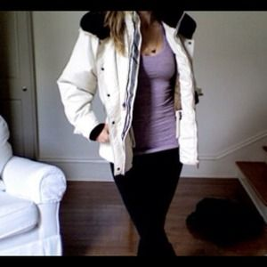 Ivory & Black Ski Coat