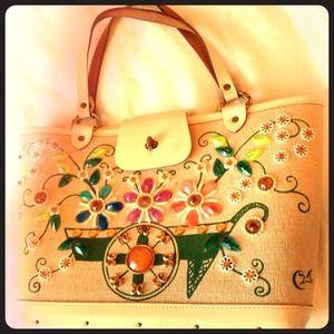 CLOSING SALE Enid Collins Vintage Hand-Crafted Bag
