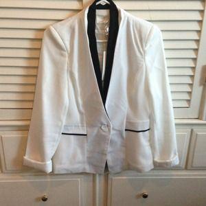 Lush Jackets & Blazers - New with tags Black & White Tuxedo Blazer