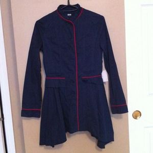 ASOS navy blue coat
