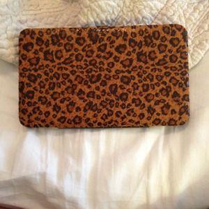 Leopard print wallet/clutch
