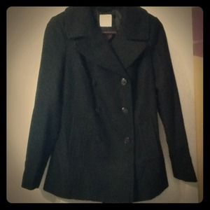 Small Black old navy pea coat brand new never worn