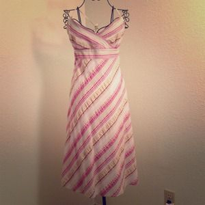 J. Crew Dresses & Skirts - Pink and Beige striped Sundress