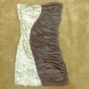 Short half and half dress