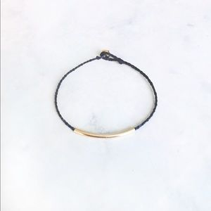 minimal gold tube bar stacking friendship bracelet