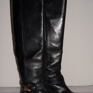 Tory Burch Alessandra Tall Riding Boots Black