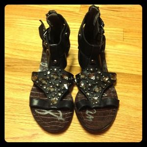 Sam Edelman Shoes - Sam Edelman rhinestone gladiator shoes