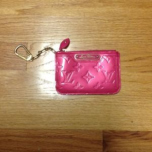 Louis Vuitton Clutches & Wallets - (RESERVED) authentic Louis Vuitton pink key chain