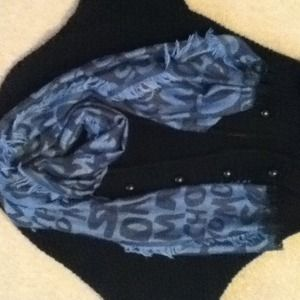 Moschino blue printed scarf