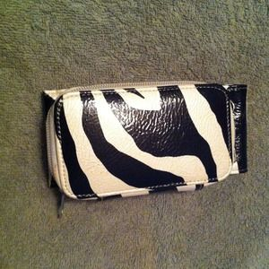 Clutches & Wallets - Zebra print wallet/cellphone holder