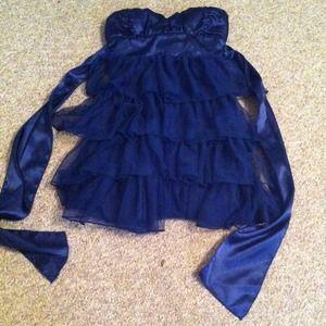 Dresses & Skirts - Navy blue Charlotte Ruse cocktail dress