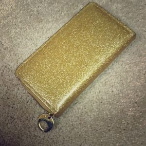 Clutches & Wallets - Glittery Gold Wallet