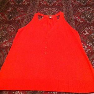 Sweaters - An Orange Sweater Vest