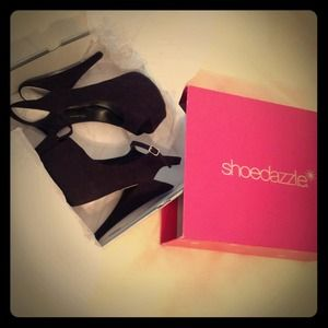 Black Shoedazzle heels, size 7.5 US