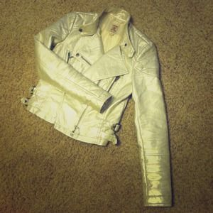 Faux Leather Motorcycle Jacket!