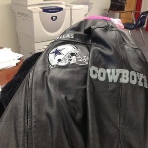 premium selection 3e742 81752 Dallas Cowboy leather jacket