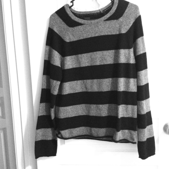 48% off GAP Sweaters - Gap Black & Grey striped sweater from ...
