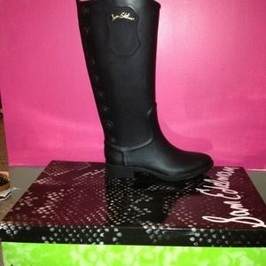 Sam Edelman Ximon Black Rain Boots