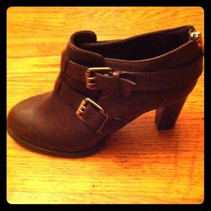 J. Crew Boots - REDUCED: New J.Crew brown leather booties