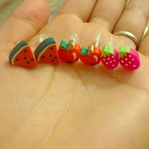Cute Fruit Earrings :)