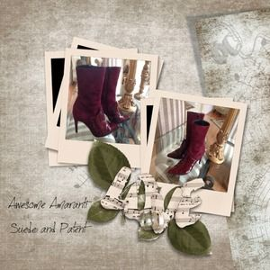 ⛔JUST LOWERED⛔Amaranti Suede and Patent Boots